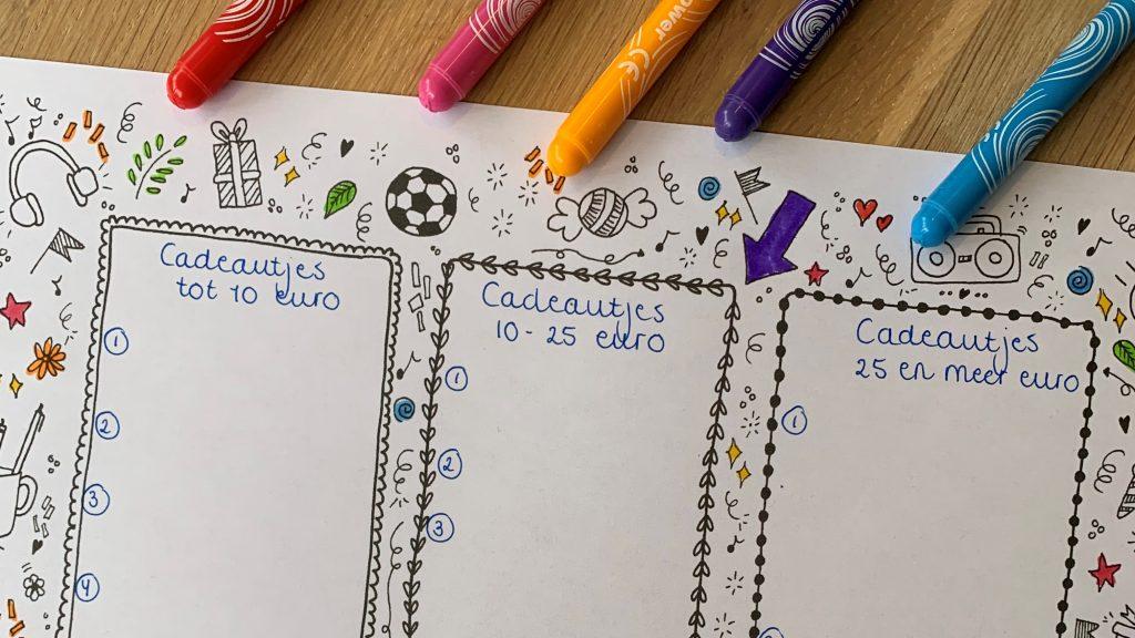 Met een verlanglijstje in drie delen leer je jouw kind keuzes te maken